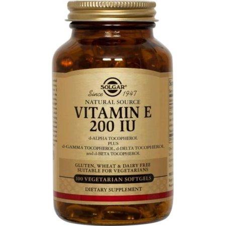 La vitamine E naturelle 200 UI - Mixte, Végétarien Solgar 100 Softgel