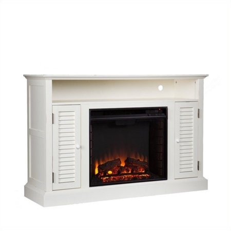 Southern Enterprises Savannah Media Electric Fireplace in Antique White - image 10 of 11