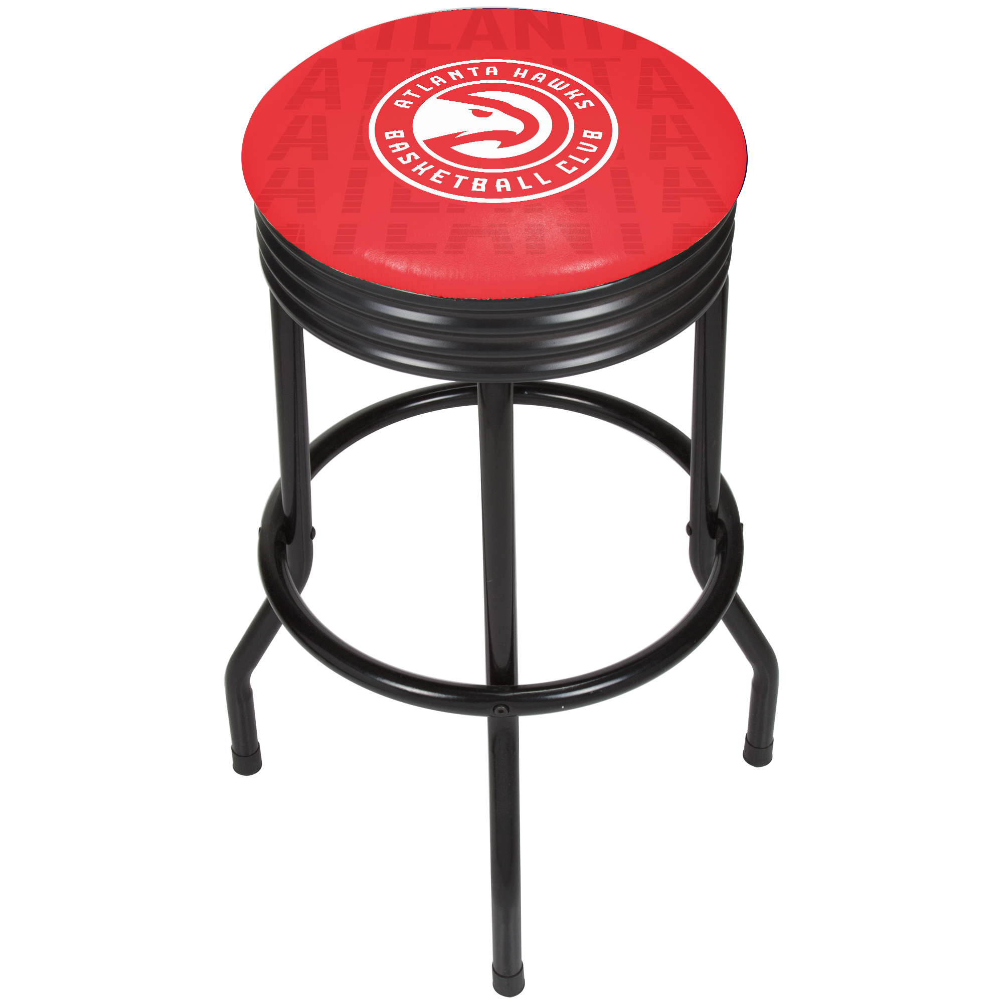 NBA Black Ribbed Bar Stool - City - Atlanta Hawks