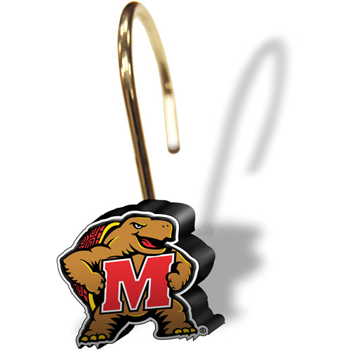 NCAA Maryland Terrapins Shower Curtain Rings, Set of 12