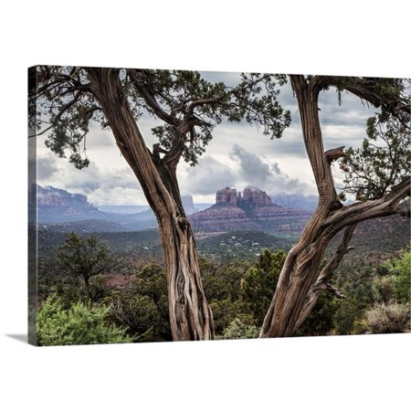 Sunset Sedona Arizona (Great BIG Canvas | Scott Stulberg Premium Thick-Wrap Canvas entitled Storm over Cathedral Rocks in Sedona,)