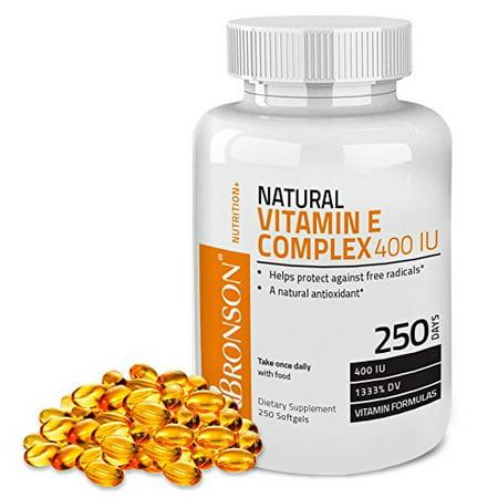 Bronson vitamine E naturelle Complex 400 UI (D-alpha-tocophérol), 250 gélules