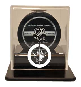 Winnipeg Jets Single Hockey Puck Display Case