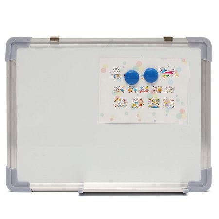 12x16'' Double Side Magnetic Writing Whiteboard Office white Erase Board + Eraser - image 1 de 7