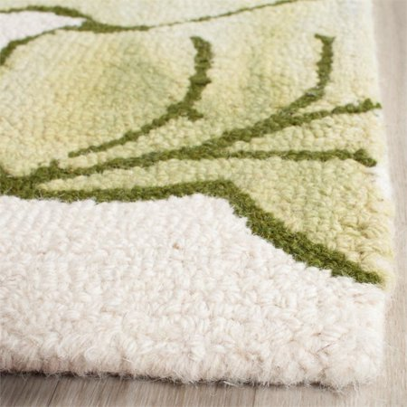 "Safavieh Dip Dye 2'3"" X 8' Hand Tufted Rug in Ivory and Light Green - image 4 de 10"