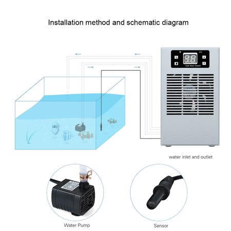 20L Wireless Control Fish Tank Water Cooling Heating Machine Aquarium  Cooling Machine Water Temperature Controller Aquarium Thermostat Fish Tank
