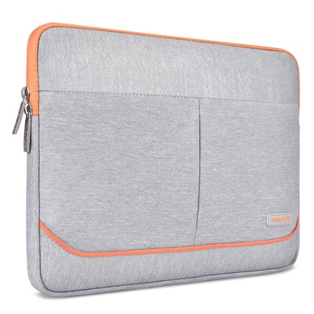 free shipping ce7c9 f4bd5 Mosiso Laptop Sleeve Bag for 13-13.3 Inch MacBook Pro, MacBook Air,  Notebook Computer with 2 Front Decorative Mock Pockets, Protective  Spill-Resistant ...