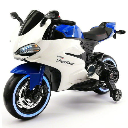 2017 Ducati Style Ride On Toy Motorcycle Car for Kids 12V Battery Powered  Blue