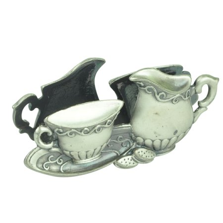 Pewter Christening Cup - Business Card Holder Coffee Cup Creamer Glory Land Pewter Desk Home Décor