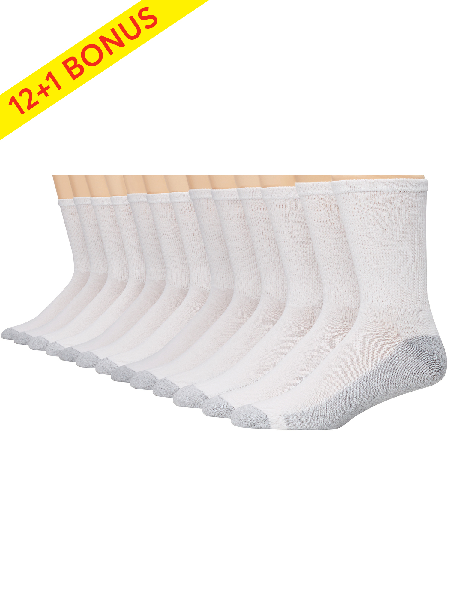 Hanes 13-Pack Low-Cut Socks Men/'s Cushion Bonus Durable Comfort toe Cushioned