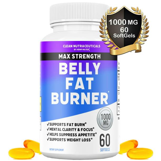 Belly Fat Burner Pills - CLA - Conjugated Linoleic Acid Softgels - Slim Stomach & Abdominals - Natural & Keto Diet Friendly Weight Loss Supplement for Men & Women - 60 Servings - 1 Bottle