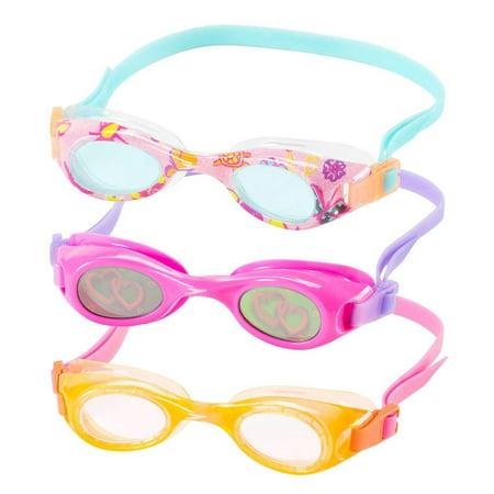- Speedo Kids Swim Goggles Triple Goggle Pack ~ Fun Prints (Orange)