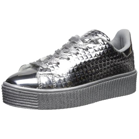 qupid womens paisley low top lace up fashion sneakers
