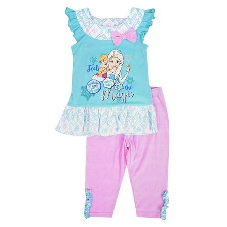 Disney Toddler Girls Feel The Magic Frozen Ana & Elsa Tank Top & Pant Set 2T - Ana Frozen
