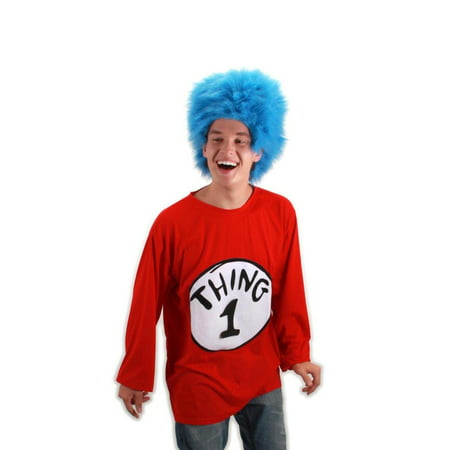 Dr. Seuss Thing 1 Costume Shirt Adult - Dr Seuss Character Costume