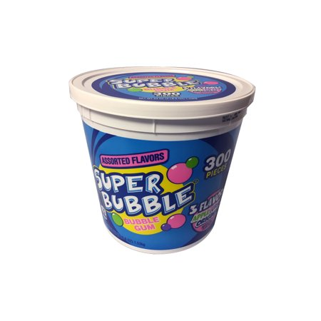 Super Bubble, Tutti Fruity, Grape, and Apple Flavored Gum, 54oz