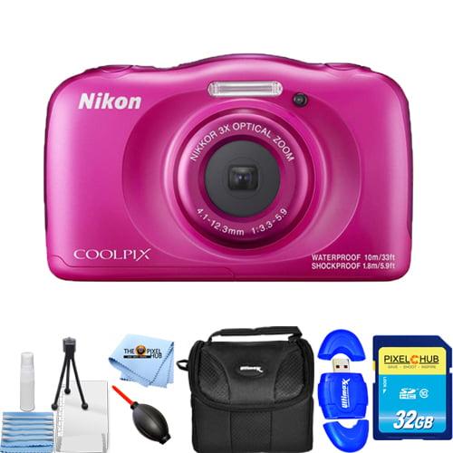 Nikon COOLPIX W100 Digital Camera (Pink) STARTER BUNDLE