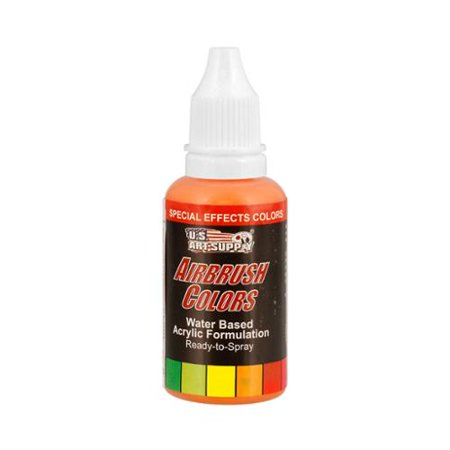 US Art Supply 1-Ounce Special Effects Orange Pearl Airbrush Paint