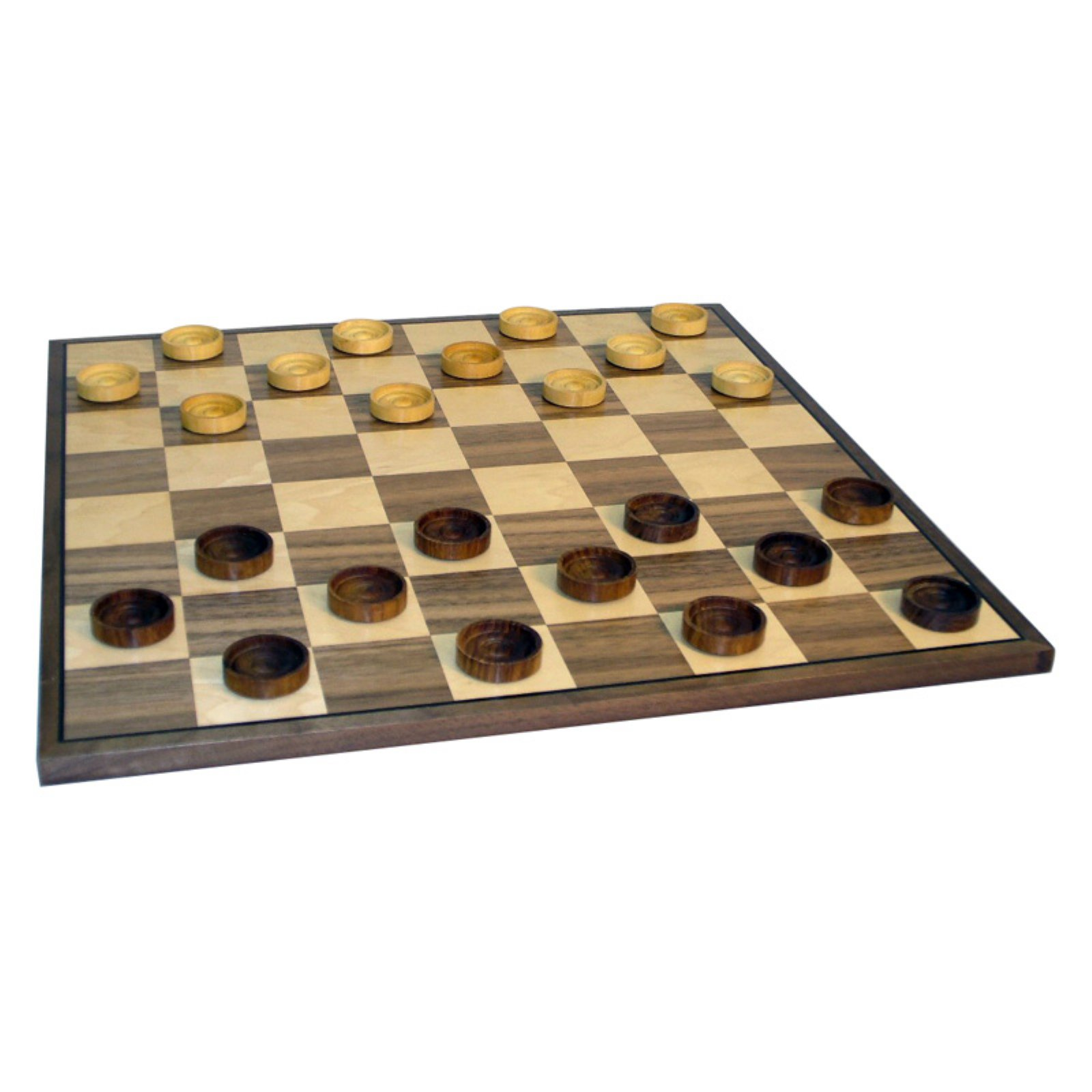 15 in. Wood Checker Set