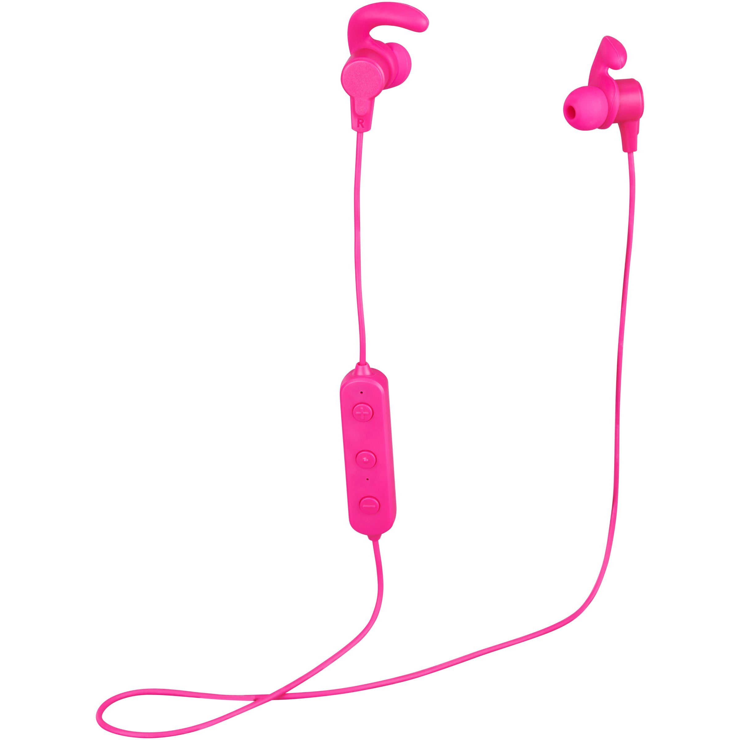 55233e2108ff0d ONN Bluetooth In-Ear Headphones with Micro-USB Charging Cable, Pink ...