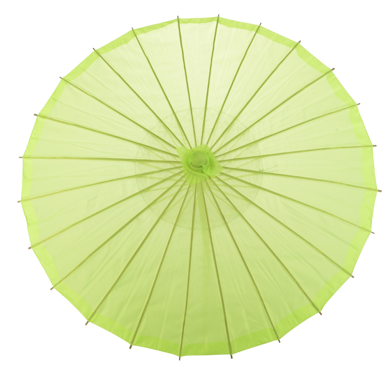 "Quasimoon 32"" Neon Green Parasol Umbrella, Premium Nylon by PaperLanternStore"