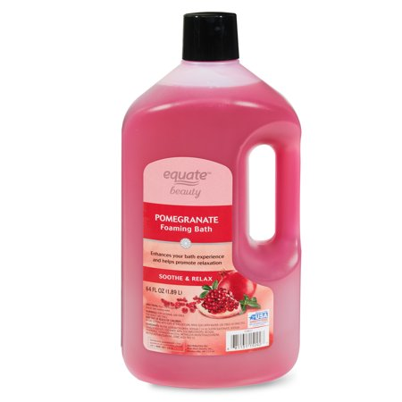 Equate Beauty Pomegranate Foaming Bubble Bath, 64 fl oz