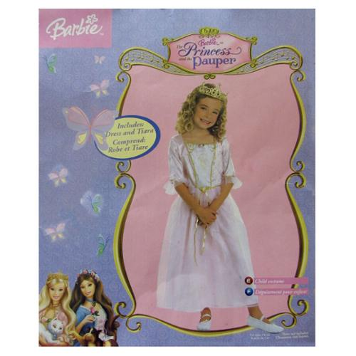 Rubie's Girls The Princess And The Pauper Anneliese Barbie Costume, Pink, Medium