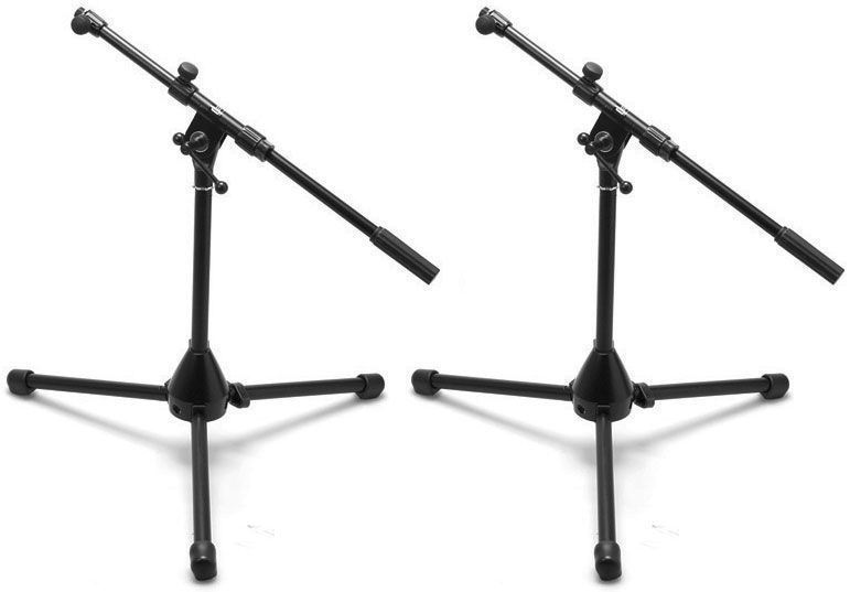 2 Hosa MSB-382BK Instrument Microphone Stands With Boom by Hosa