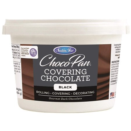 Satin Ice ChocoPan Black Covering Chocolate, 1 Pound ()