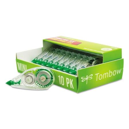"""Tombow MONO Mini Correction Tape, 1/6"""" x 315"""", Non-Refillable, 10-Count"""