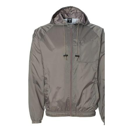 Rawlings 9728 Men's Hooded Full-Zip Wind Jacket - Steel - Medium ()