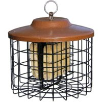 Squirrel-X Squirrel-Proof Double Suet Feeder, Cage Bird Feeder, 2 Suet Cake Capacity