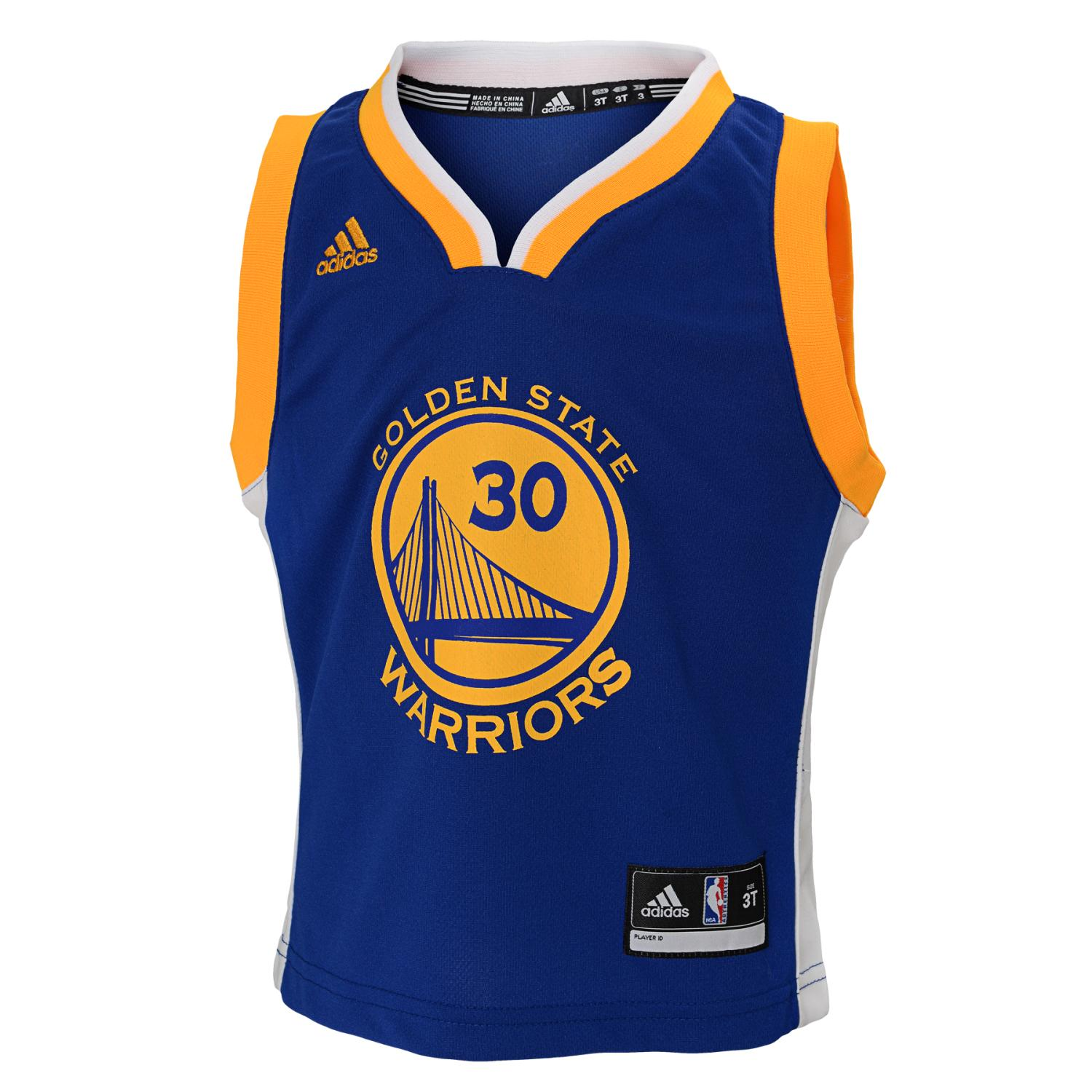 Stephen Curry Golden State Warriors Adidas NBA Replica Youth Jersey - Blue