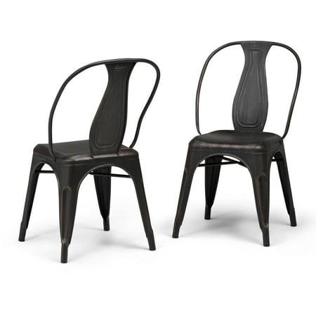 Simpli Home Merritt Metal Dining Arm Chair (Set of 2) ()