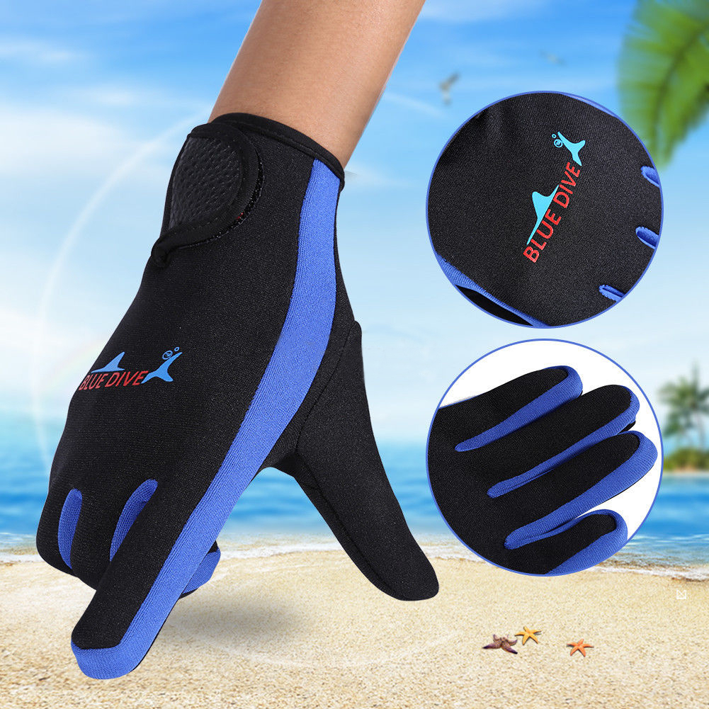 (Asian Size)High Elasticity 1.5mm Neoprene Winter Sport Swimming Snorkeling Diving Gloves by 14.54