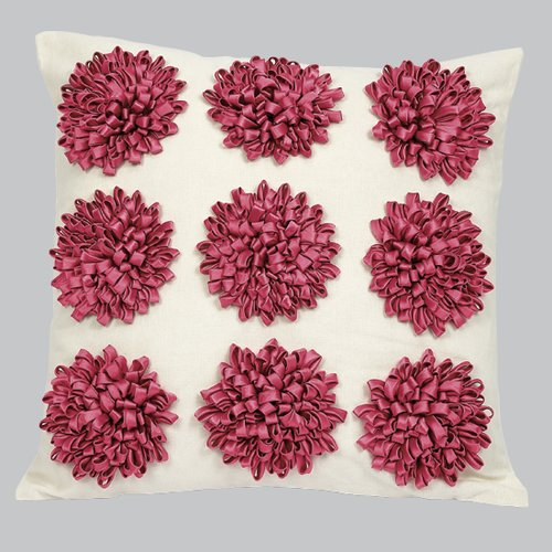 Jubilee Collection 9 Dahlia's Flowers Throw Pillow