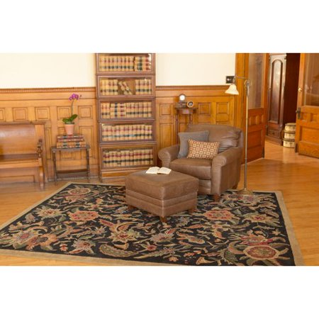 St. Croix Traditions Paradise Tufted Wool Black Area Rug