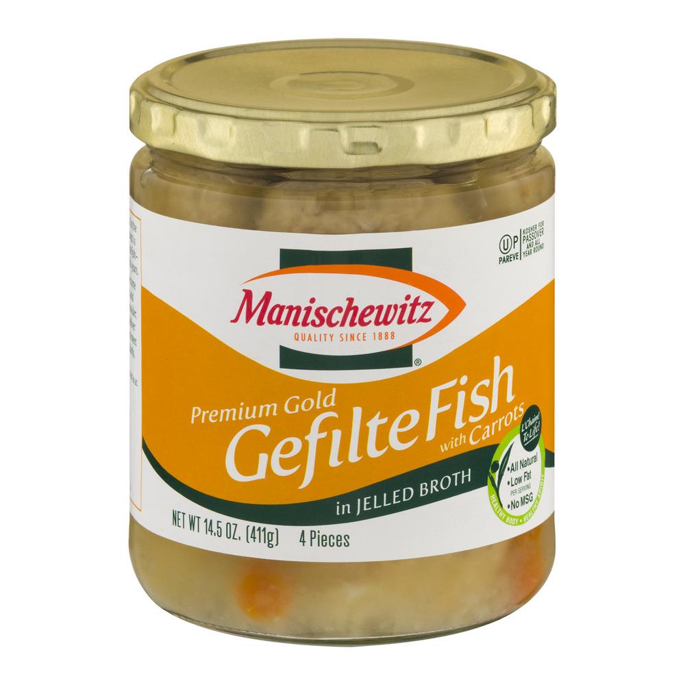 Manischewitz Permium Gold Gefilte Fish, 14.5 OZ