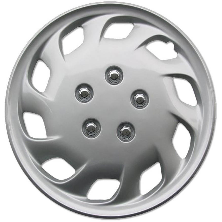 "BDK 15"" Hubcaps Wheel Cover, OEM Replacement, Easy Installation, Total 4 Pieces (2 front 2 rear)"
