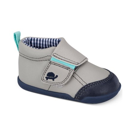 Carter's Every Step Baby Boys First Walker Shoes Light Grey Blue