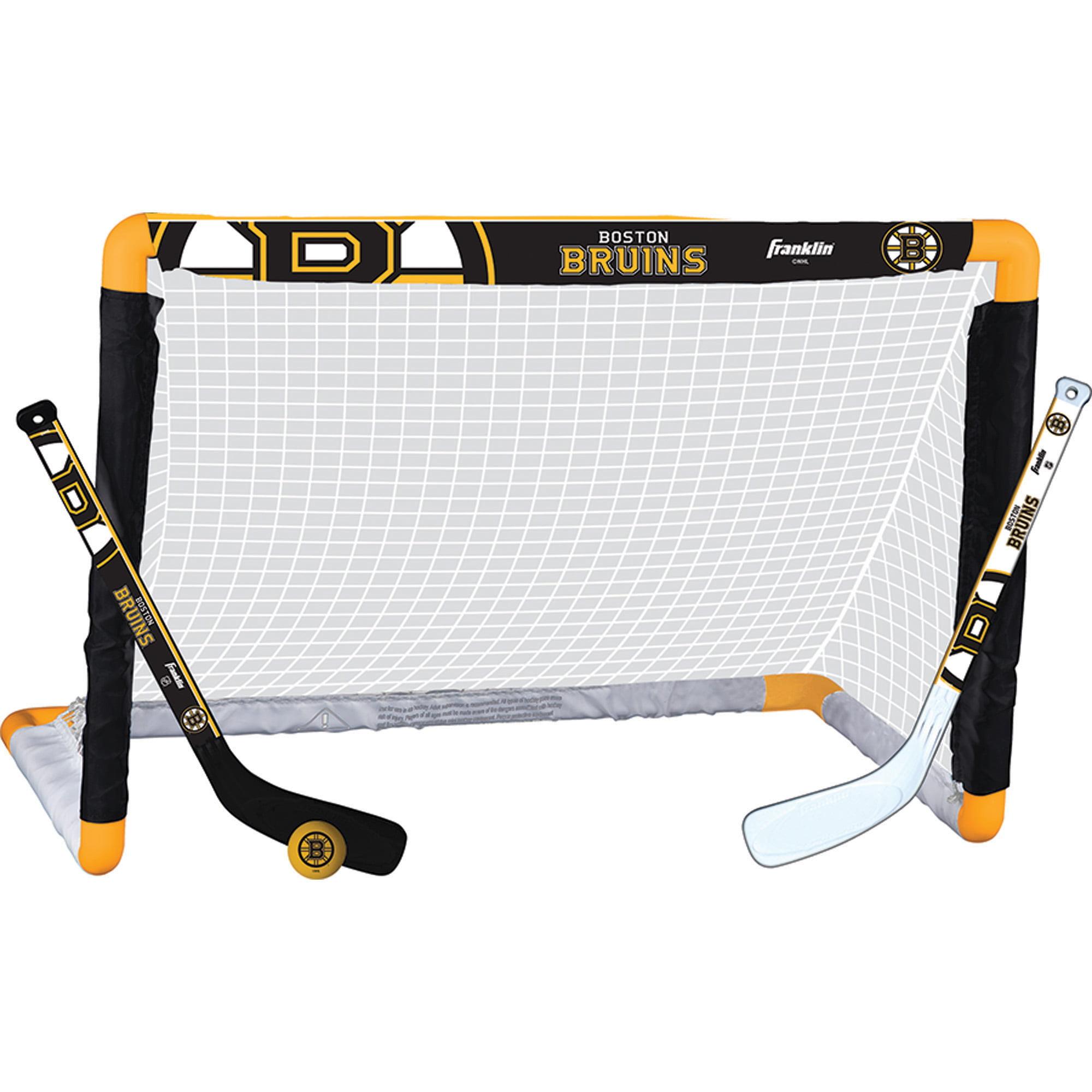 Franklin Nhl Mini Hockey Goal Set Bruins Walmart Com Walmart Com