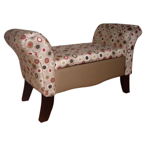 Superieur ORE Furniture Upholstered Storage Settee Bench   Walmart.com