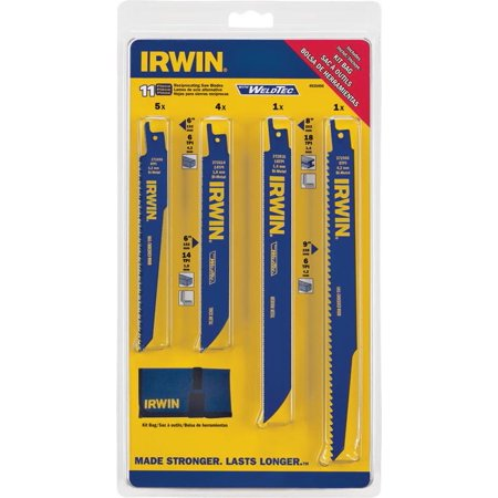 Irwin 4935496 11 Piece Set Reciprocating Saw Blades With WeldTec™