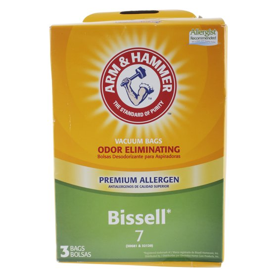 Arm And Hammer For Bissell 7 Premium Vacuum Cleaner Bag 3 Pack