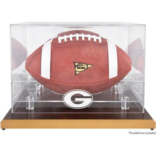 NCAA - Georgia Bulldogs Wood Base Logo Football Display Case