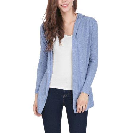 Ladies Hooded Long Sleeves Drapey Tunic Cardigan (Hooded Spandex Tunic)