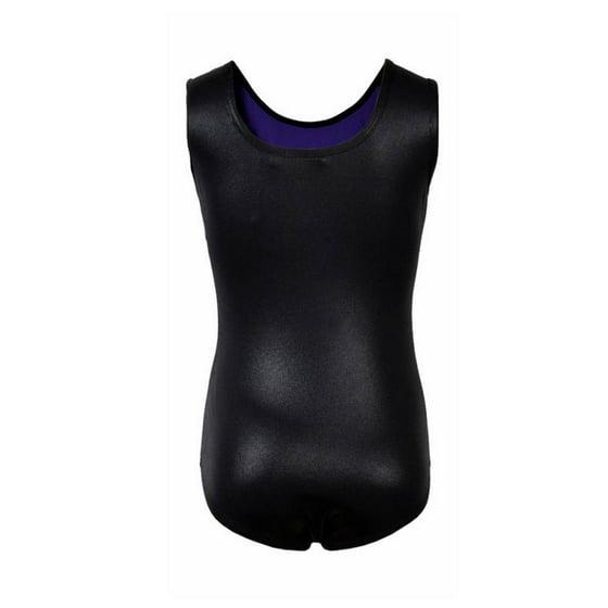 da43f9002 Kids Girls Sleeveless Stripe Bodysuit Leotards Gymnastics Ballet ...