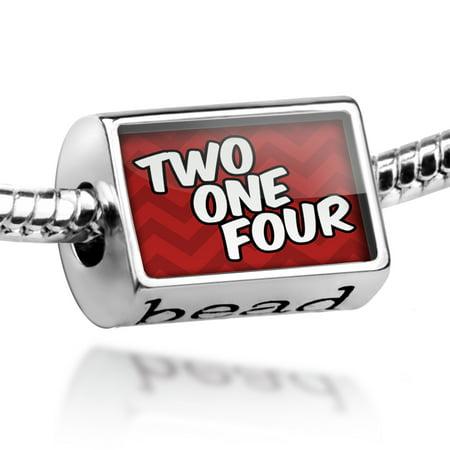 Bead 214 Dallas, TX red Charm Fits All European Bracelets