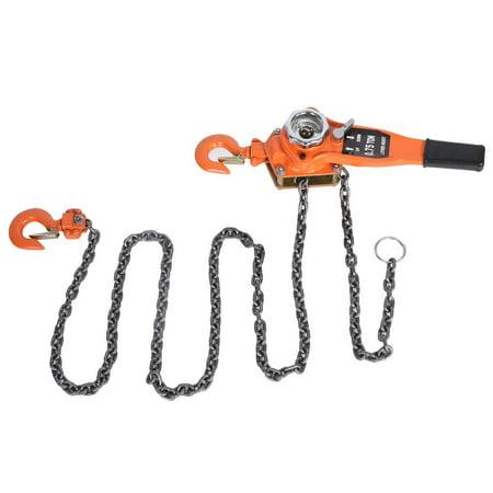 3t/3000kg Chain Block Hoist Ratchet Hoist Ratchet Lever Pulley Lifting 3meters, Manual Block Lift ()