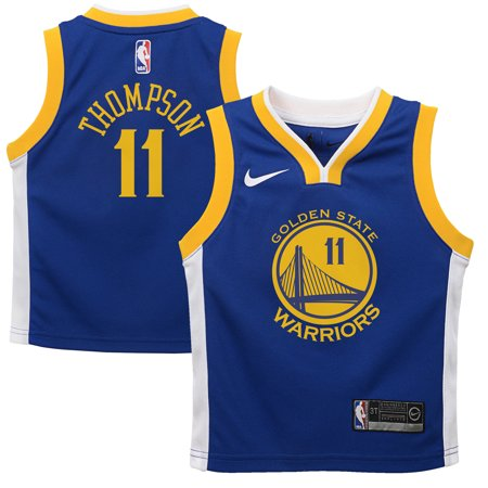 low priced 90c20 72731 Klay Thompson Golden State Warriors Nike Toddler Replica ...